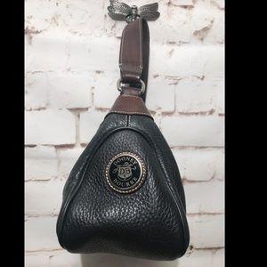 Dooney & Bourke Black Pebble Leather Hobo Bag